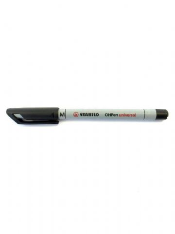 STABILO NON-PERMANENT OHP UNIVERSAL CD/DVD MARKER PEN - MEDIUM - BLACK